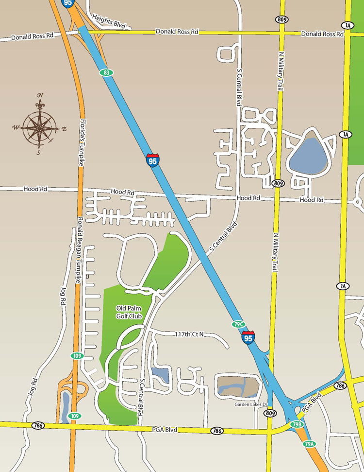 I95 Map Florida.I 95 Hov Expansion Project Project Map